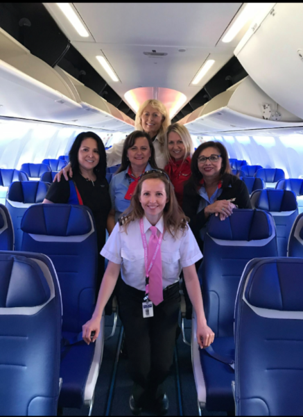 SWA 737 MAX ALL FEMALE CREW