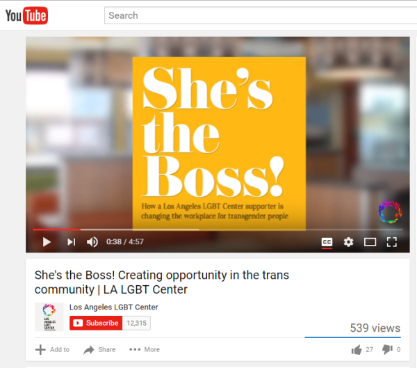 Sep 19, 2016 - LA LGBT Center: She's the Boss!
