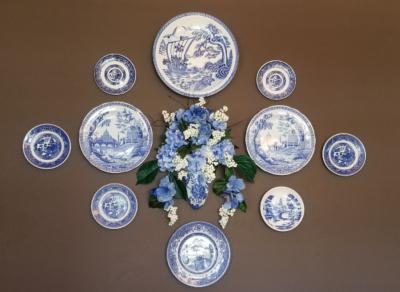 Displaying Blue & White Plates