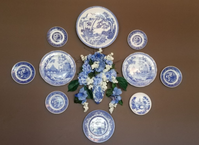 Displaying Blue & White Plates
