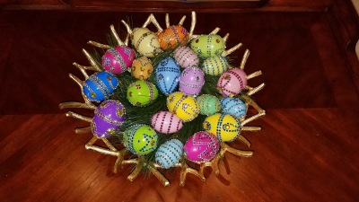 Pier 1 Inspired Easter Eggs DIY With Bling Bling
