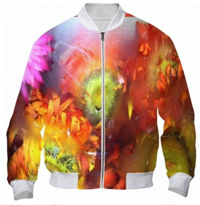 V-ALLURE Marble Flower, Bomber Jacket, Digital print