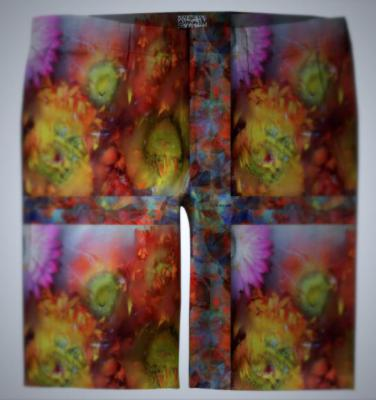 V-ALLURE Marble Flower, Trouser Shorts, digital print