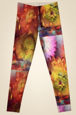 V-ALLURE Marble Flower, Leggings, Digital Prints
