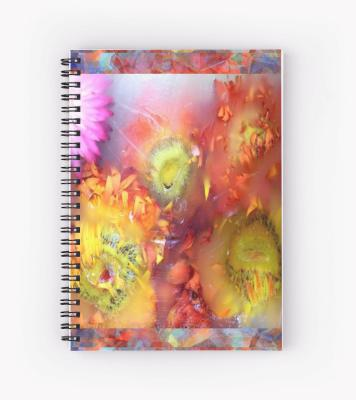 V-ALLURE Marble Flower, Spiral Notebook, Digital Print