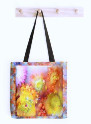 V-ALLURE Marble Flower, Tote Bag, Digital Print