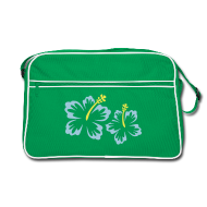 Flowery Green Retro Bag, Retro Bag, Eco-Friendly, Flowers, Plant