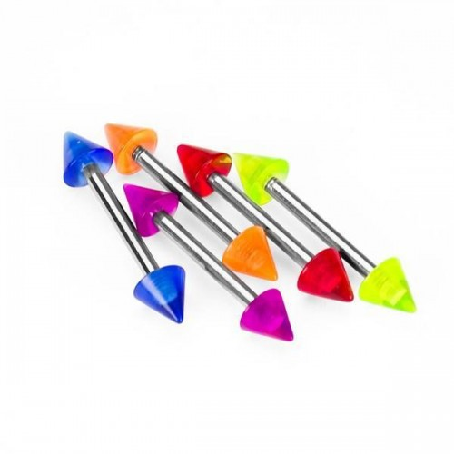 Glow In The Dark Coned Barbells, Body Piercing, Tongue Piercing