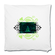 Green Buddha, Sofa Pillow Cover,