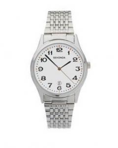 SEKONDA 3493 MENS STAINLESS STEEL DATE BRACELET WATCH