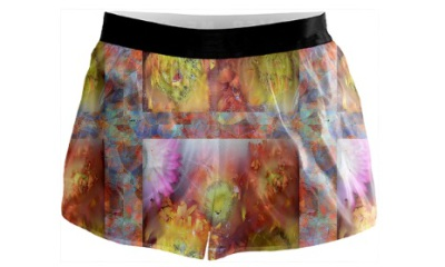 Running Shorts,  Marble Flower Collection