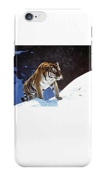 tiger, snow, mountains, accessories, animals, iPhone Cases