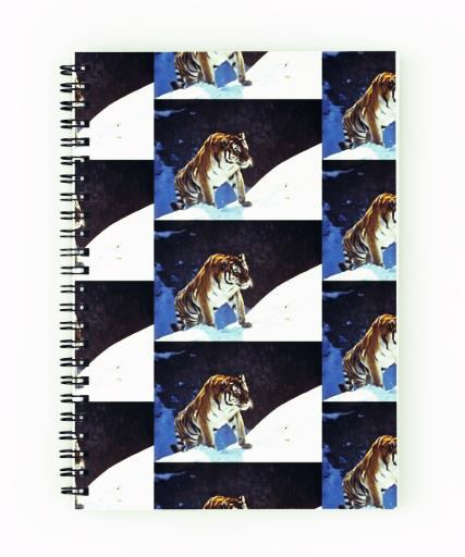 Tiger, snow, mountains, accessories, animals, spiral notebook
