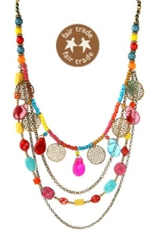 World Fair Trade Organisation,  handmade in India, Handmade Indian multi beads,  chains