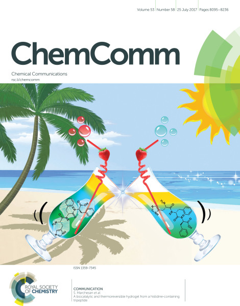 July 2017 - Our work on ChemComm Cover!