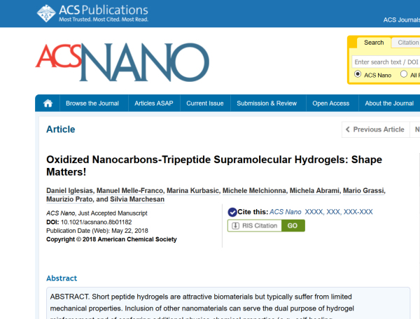 May 2018 - our work on ACS Nano!