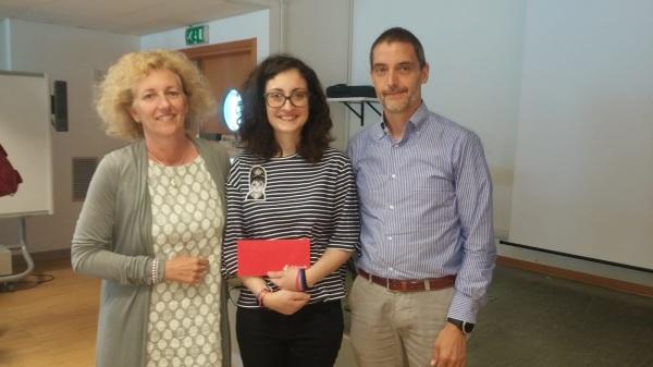 June 2018 - Eva wins PhD School Prize! Congrats!!!