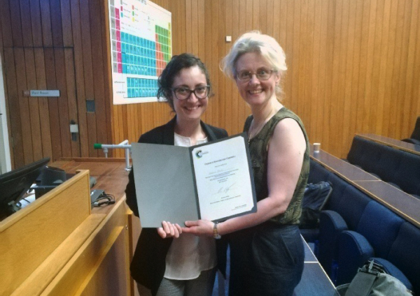 July 2018 - Eva wins OBC Prize for her Talk in UK! Congrats!!!