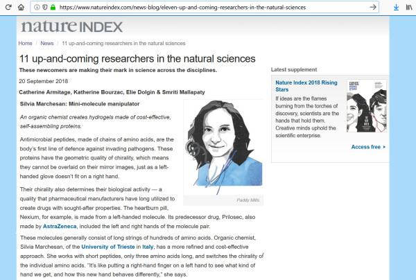 Sep 2018 - Nature Index 11 Rising Stars