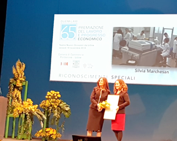 Nov 2018 - Recognition by the Chamber of Commerce of Pordenone & Udine