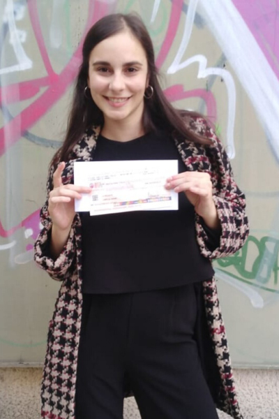 Feb 2019 - Serena wins BEST STUDENT prize!