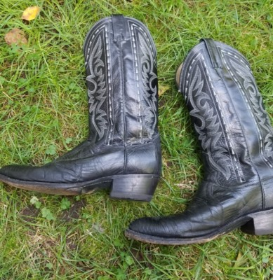 Western Boots Left side  Size 10