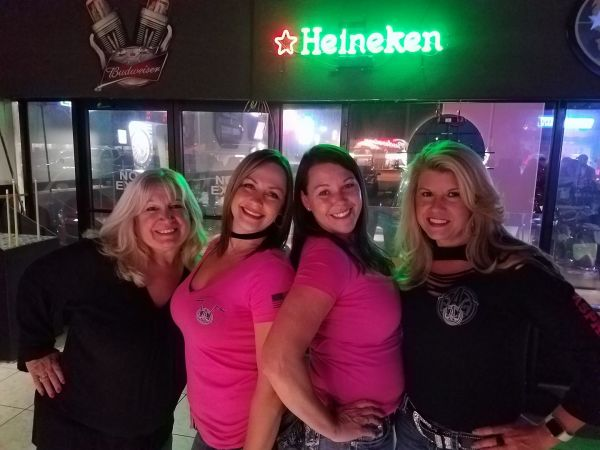 Ladies Enjoying Bike Night