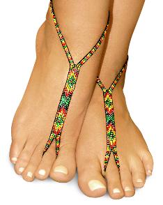 nude shoe barefoot sandals rasta love