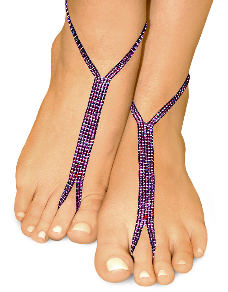 pearly purple nude shoe barefoot sandals