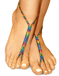 rainbow love nude shoe barefoot sandals
