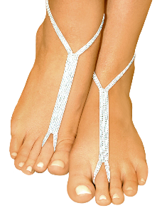 white wedding nude shoe barefoot sandals