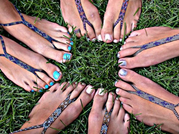 nude shoe barefoot sandals