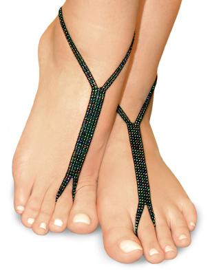 metallic nude shoe barefoot sandals