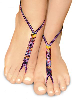 purple haze nude shoe barefoot sandals