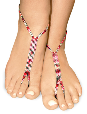 silver pink nude shoe barefoot sandals