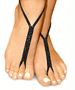 black pearl nude shoe barefoot sandals