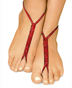 ravishing red nude shoe barefoot sandals