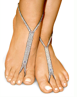 silver sparkle nude shoe barefoot sandals