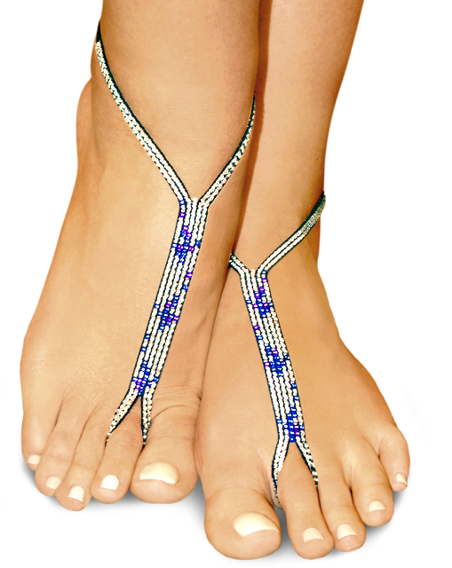 cool ice nude shoe barefoot sandals