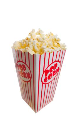 Gratis utdeling av popcorn  til kunder