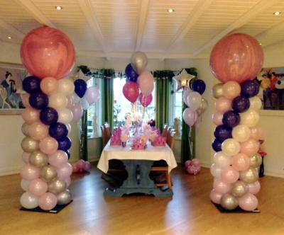 Dekor til prinsessebursdag i privat hjem