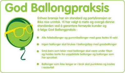 Vi følger god ballongpraksis