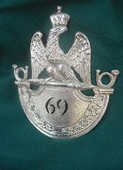 1812 Shako Plate 69eme Voltigeurs