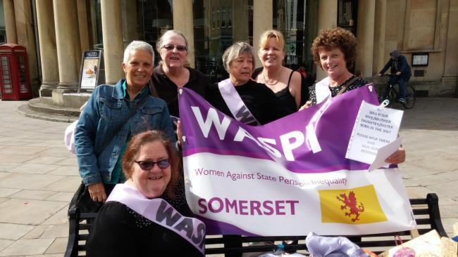 WASPI protest in Bridgwater