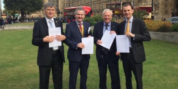 Peter Grant MP, Roger Mullin MP, Douglas Chapman MP & Stephen Gethins MP