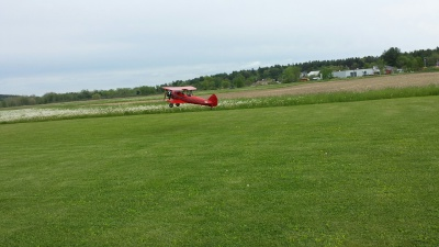Dennis' Stearman Maiden Takeoff