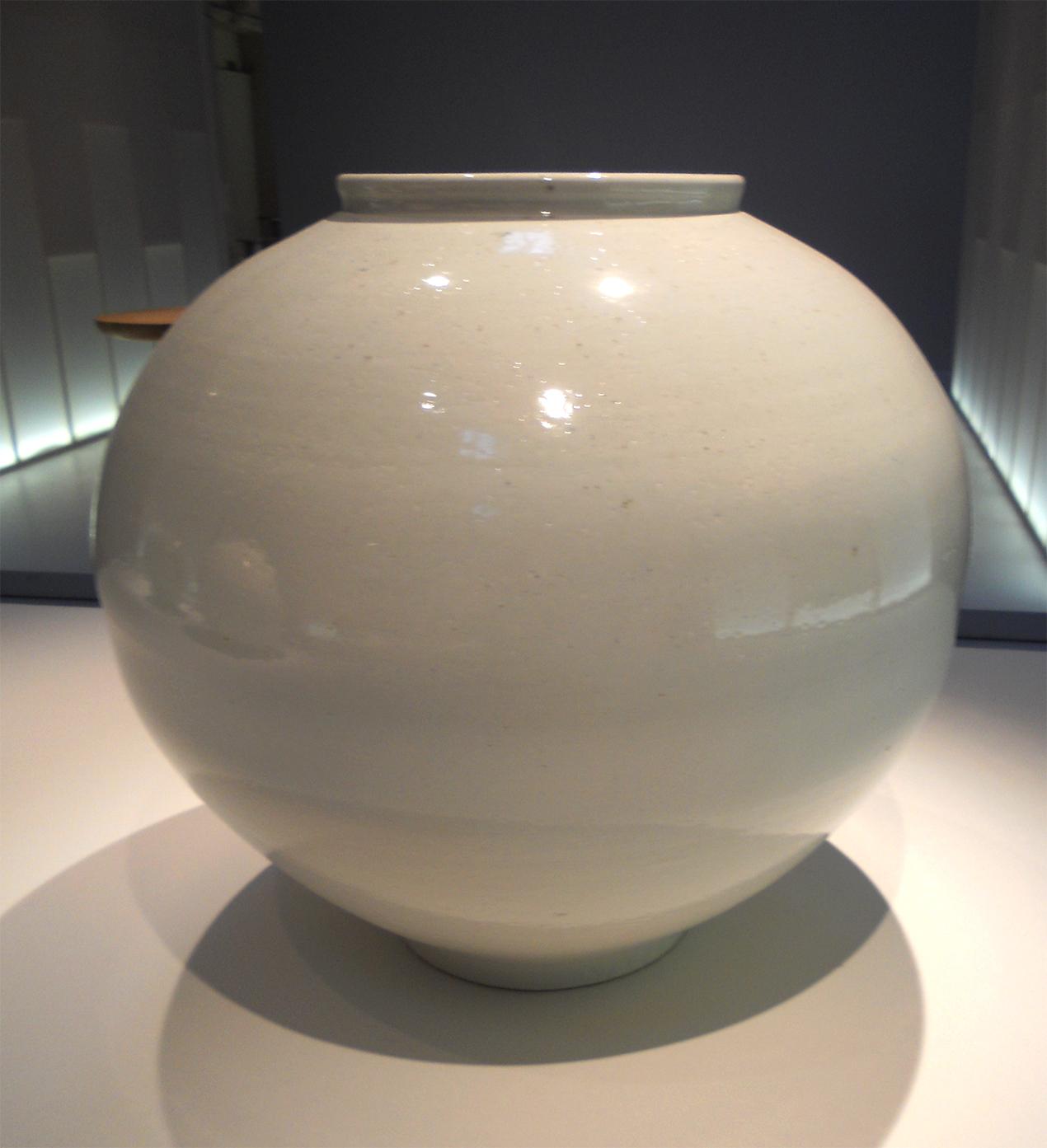 Ceramic Moon Jar by Kwon Dae-sup