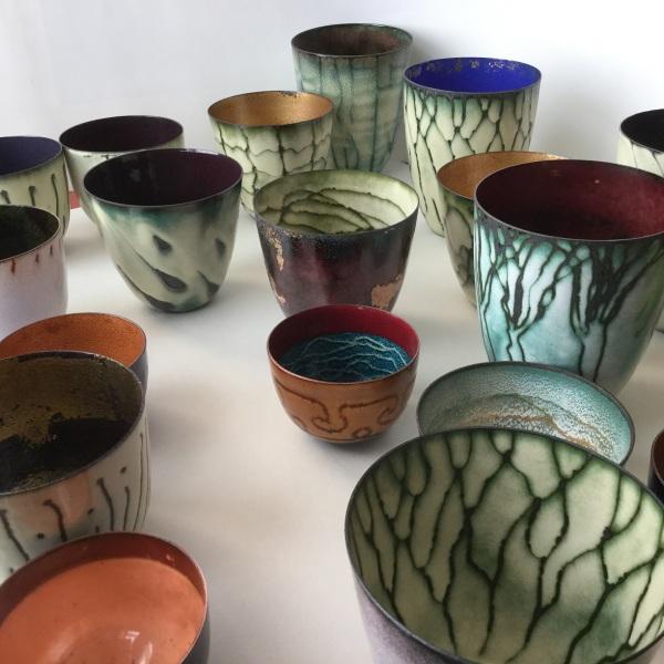 Enamelled Copper Vessels: Susan Mannion