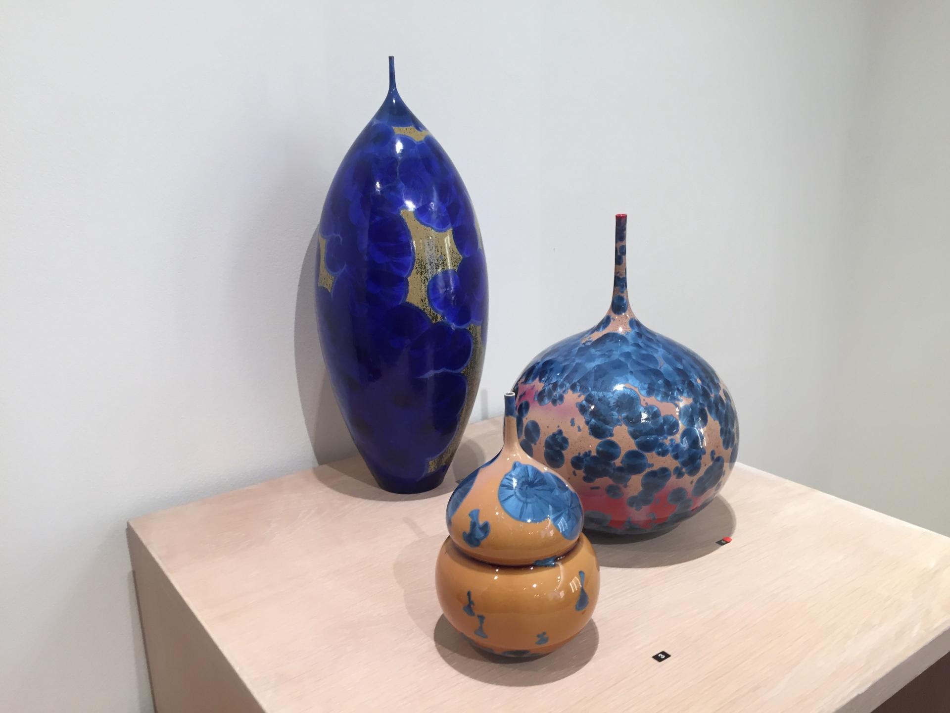 Matt Horne: 2 vessels and lidded pot