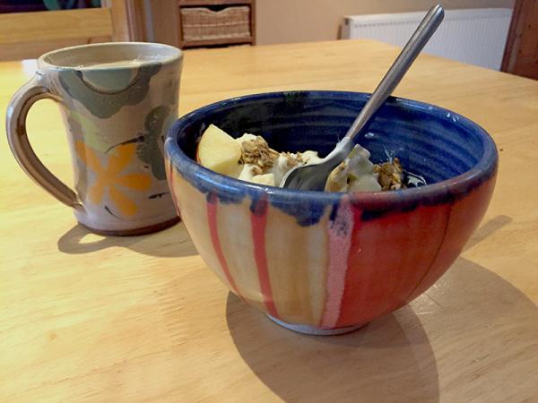 Mug: Stephen Price, Bowl: Rossmore Country Pottery
